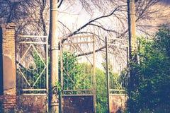 Old Stadium Gate Retro Royalty Free Stock Images