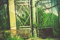Old Stadium Gate Retro Royalty Free Stock Photos
