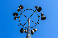 Stadium light pole Royalty Free Stock Images
