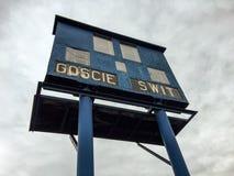 Old stadium scoreboard Royalty Free Stock Image