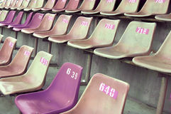 Old stadium seats Stock Photos