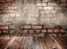 Old stage. Background, grunge textures Stock Photography
