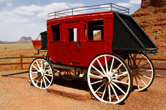 Old Stage Coach At Monument Valley, Utah, USA Royalty Free Stock Photography