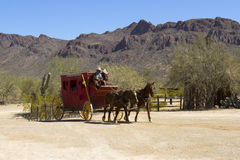 Old Stage Coach in West Royalty Free Stock Photography