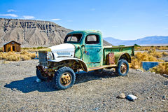 Old stage wagon in Ghost town Royalty Free Stock Photos