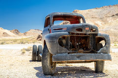 Old stage wagon in Ghost town Rhyolite Royalty Free Stock Photos