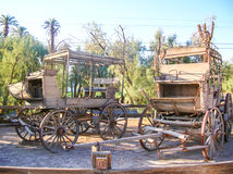 Old stagecoach. In death valley Royalty Free Stock Photography