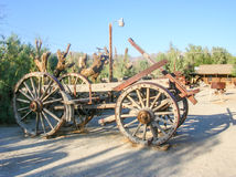 Old stagecoach. An old wooden stagecoach in Death Valley Stock Photo