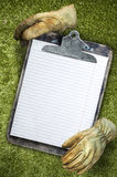 Old stained clipboard Royalty Free Stock Images