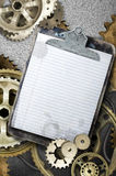 Old stained clipboard Stock Photography