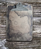 Old stained vintage clipboard Stock Photography