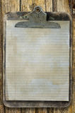Old stained clipboard Royalty Free Stock Photography