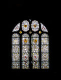 Old stained glass decorated Stock Images