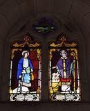 Old stained glass window Royalty Free Stock Photo