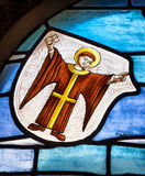 Old stained glass window Stock Image