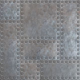 Old stained metal plates with rivets seamless background or texture. Old stained metal plates with rivets seamless background stock images