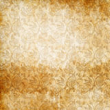 Old stained paper background with floral patterns. Royalty Free Stock Photography