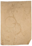 Old stained paper Stock Photography