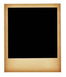 Old stained photo frame isolated. On pure white background royalty free stock image