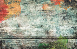Old stained wooden board background, empty copy space Royalty Free Stock Photo