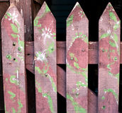 Old stained wooden fence background Royalty Free Stock Image