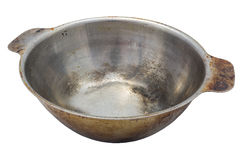 Old stainless steel bowl Stock Image