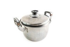 Old Stainless steel pot Royalty Free Stock Images
