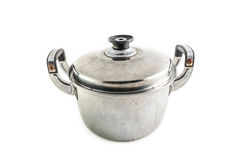 Old Stainless steel pot Royalty Free Stock Photography