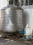 Old stainless water tank Royalty Free Stock Photo