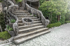 Old stair in the garden. Stock Photo