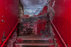 Old staircace. Stock Photos
