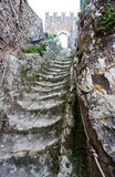 Old staircas, Medieval castle of Sperlinga, Sicily Stock Images