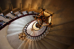Old Staircase. Old spiral staircase, Duino, Italy Stock Images
