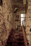 Old Staircase. With grafitti in Berlin Royalty Free Stock Images