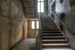 Old staircase in Beelitz Stock Photography