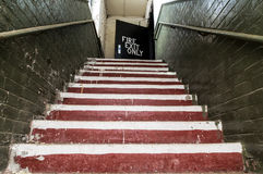 Old staircase. Royalty Free Stock Photos