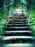 Old Staircase. On the hill royalty free stock photo