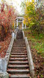The old staircase that leads to the gazebo Royalty Free Stock Image