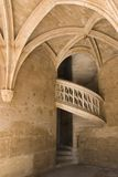 Old staircase, Paris Cluny Museum. An old spiral staircase, gothic style, taken in Paris at the Cluny museum Stock Image