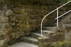 The old staircase. Stones covered with moss Royalty Free Stock Photos