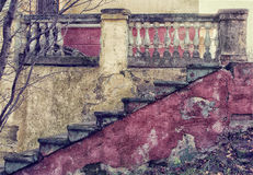 Old staircase, a stylized photo by vintage Royalty Free Stock Photos
