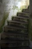 Old stairs. Old staircase in abandoned prision Stock Image