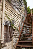 Old stairs of an abandoned home Stock Photos