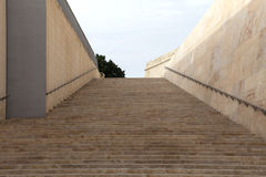 Old stairs in City Gate of Valletta - Malta capital, Europe Royalty Free Stock Photos