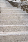 Old stairs and the ground Royalty Free Stock Photo