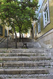 Old stairs in Lisbon Stock Photography