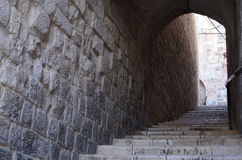Old stairs. In the Nablus old city Royalty Free Stock Photography