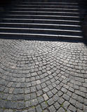 Old Stairs and pawing stones Royalty Free Stock Images