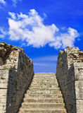 Old stairs and sky. Concept freedom background Stock Photography