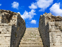 Old stairs and sky. Concept freedom background Royalty Free Stock Photos